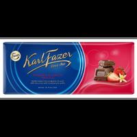 Karl Fazer ストロベリー バニラ味 ミルクチョコレート 190g * 2枚セット (380g) フィンランドのチョコレートです