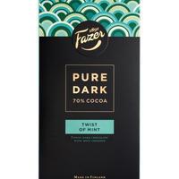 Fazer ファッツェル ピュアダーク 70 % cocoa - Twist of Mint チョコレート 8 袋 x 95gセット フィンランドのチョコレートです