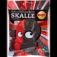 Bubs Godis Skalle スカッレ 骸骨 グミ ラズベリー リコリス 味 90g×2袋セット グルテンフリー スゥエーデンのお菓子です