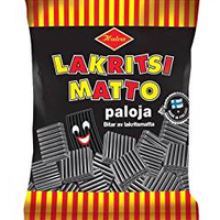 Halva ハルヴァ ラクリッツ マット リコリス キャンディー 300g ×1袋 フィンランドのお菓子です Lakritsi mattopaloja