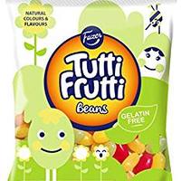 Fazer Tutti Fruttiトゥッティフルッティ グミ ビーンズ イチゴ ラズベリー 洋ナシ味 130g* 24袋セット フィンランドのお菓子です