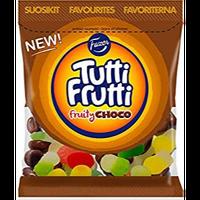 Fazer Tutti Fruttiトゥッティ フルッティ チョコ フルーツ味 グミ 325g*1袋 グルテンフリー フィンランドのお菓子です