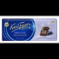 Karl Fazer ブルーベリーヨーグルト味 ミルクチョコレート 190g * 10枚セット フィンランドのチョコレートです