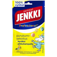Cloetta Jenkki クロエッタ イェンキ プロ ストロベリー&バナナ味 キシリトール ガム 4袋×75g フィンランドのお菓子です