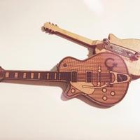 ミニチュアギターモデル バッジ
