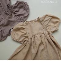【BANANA J】リネンワンピース 100cmのみ