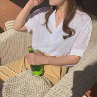 フラワー レトロ 半袖 シャツ 6509