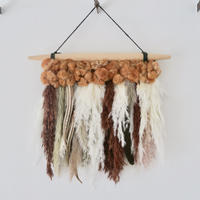 Botanical wall hanging : M [brown]