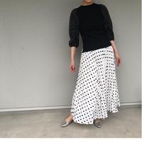 【MONiLE】ドットプリーツスカート