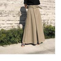 【GALERIE  VIE】ウオッシュドツイルAラインロングスカート