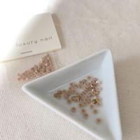 【完売】luxurynail セレクトパーツ /カジュアル カラーストーン【 no.3 /ロイヤルミルクティー/3mm/50P[AG-2003]  】