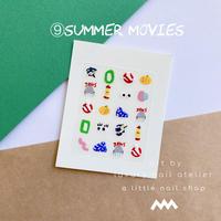 完売/オリジナルネイルステッカー/⑨summer movies/  [ST-09]