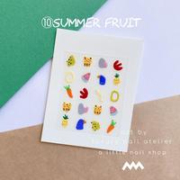 オリジナルネイルステッカー/⑩summer fruit/  [ST-10]