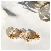 jewel hoop pirece&earring