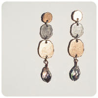 silver and gold pirece&earring