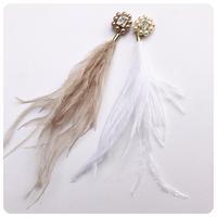 ostrichfether pierce&earring