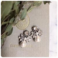 lady pearl pierce&earring