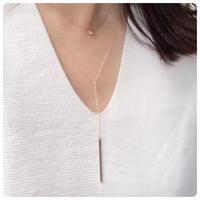 14kgf y字necklace