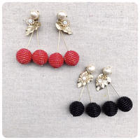 beads cherry pierce&earring
