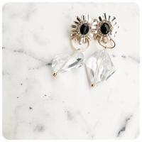 black stone pirece&earring