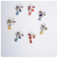 vintage stone pierce&earring