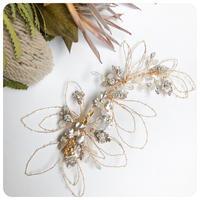 elegant flower head dress