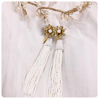 putit flower beads tassel pierce&earring