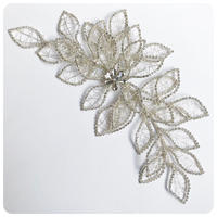 silver big flower head dress