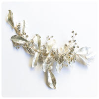 silver long leaf headdress