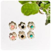 mini pearl flower pirece&earring