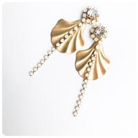 Gold shell pirce&earring