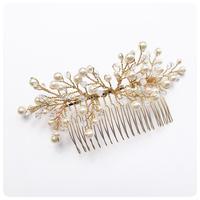 swarovski pearl head comb