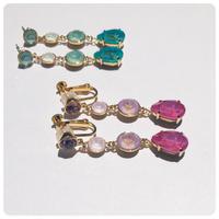 gradation color pierce&earring