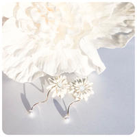 elegant flower pirece&earring