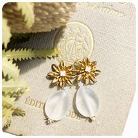 frost stone pierce&earring
