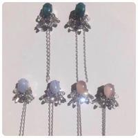 stone pierce&earring