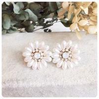 pearl flower pierce&earring