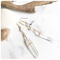 crystal pierce&earring