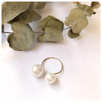 14kgf dowble pearl ring