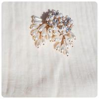 pearl  fringe pierce&earring