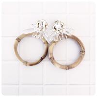bamboo pierce&earring