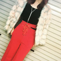 SALE ☆  フェイクファー ショートコート