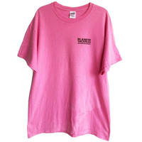 "【90's france vintage】""planete vacances"" staff T-shirts - L / pink- (om-216-29)"