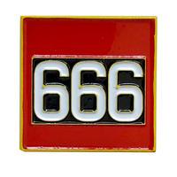 """【KHONKA KLUB / from CANADA】""""666 - The Beast"""" pin badge (kk-b-42)"""