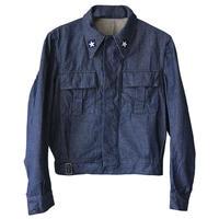 "restock!!! 【70's / dead stock】""Italian military"" ike jacket  -44 / indigo denim- (om-19)"