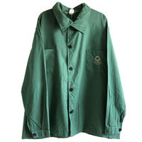 """【80's euro vintage 】""""giegle """" coverall / work jacket  -military green / 58- (jt-214-18)"""