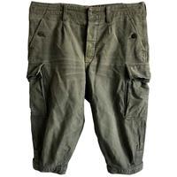"【 80's vintage / German army】""BW""moleskin knickers cargo pants -olive green / W96cm- (q-003B)"