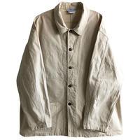 "【euro vintage / France made】""Le Glazik"" work jacket/ coverall  -natural / 58(big size)-  (jt218-10)"