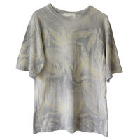 """【 vintage / u.s.made】""""DASH HEMP santa cruz"""" gradation leaf pattern hemp t-shirts -monotone / m-"""