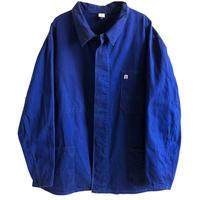 """【70's vintage / Germany made】""""K"""" herringbone work jacket  -navy / 60-  (jt-214-19"""